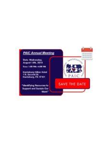 August 15th, 2018 PAIC ANNUAL MEETING @ Hilton Hotel Harrisburg