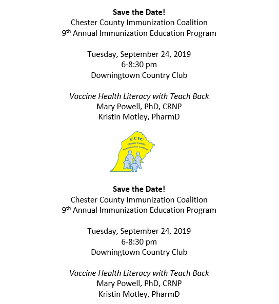 CCIC Educational Dinner: Vaccine Health Literacy and Teach Back