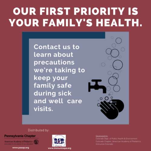 Our first priority is your family's health instagram