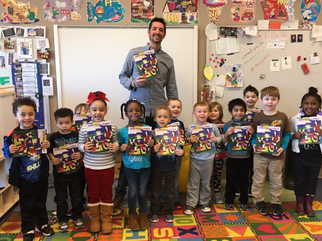 Every year Rupert Elementary School prepares to celebrate DEAR (Drop Everything And Read) Day by inviting selected area residents and community and organization leaders to share the joy of reading with students. This year David Genoa, from the Montgomery County Health Department, read the story of Victor Vaccine!