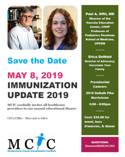 MCIC Educational Dinner- Save the Date!