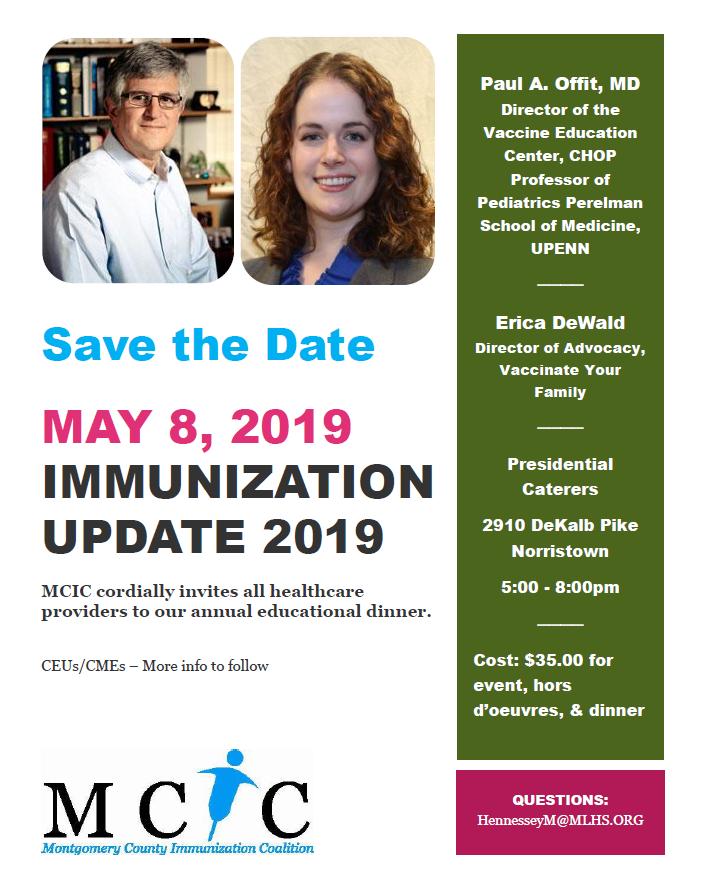 Montgomery County Immunization Coalition Immunization Update 2019- Save the Date!