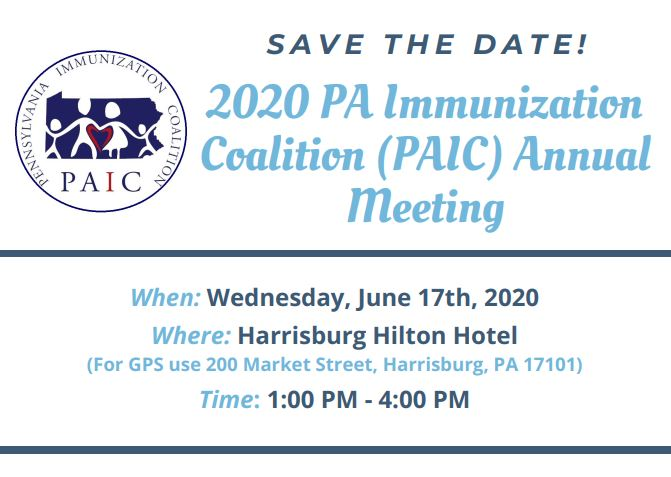 Save the Date - PAIC Annual Meeting 2020